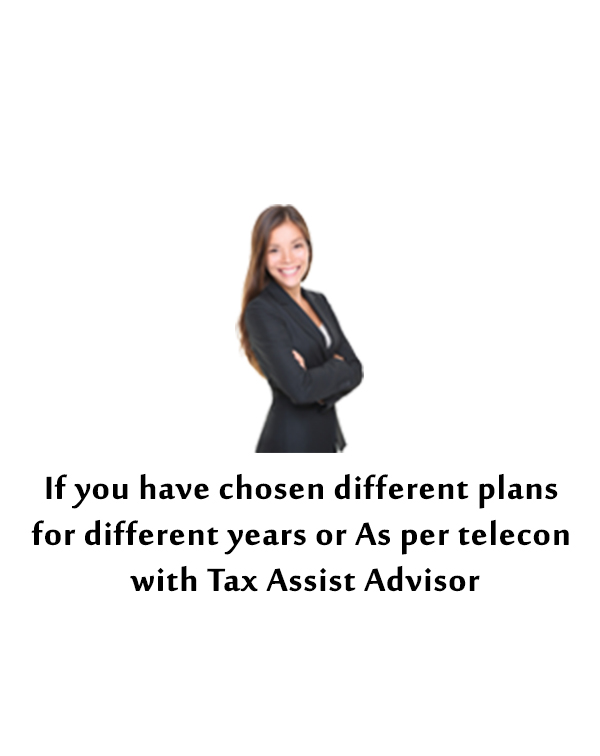 CUSTOMIZED PLAN (INCOME TAX EFILING)